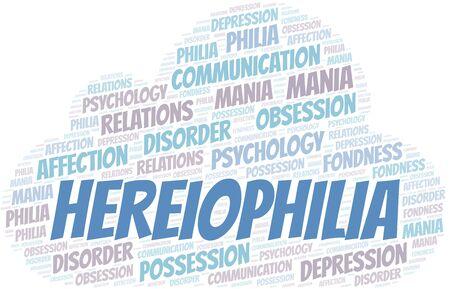 Hereiophilia word cloud. Type of Philia.