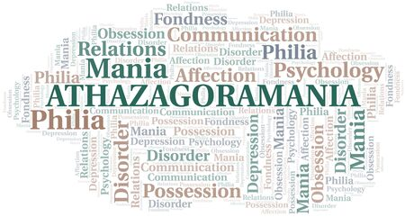 Athazagoramania word cloud. Type of mania, made with text only.