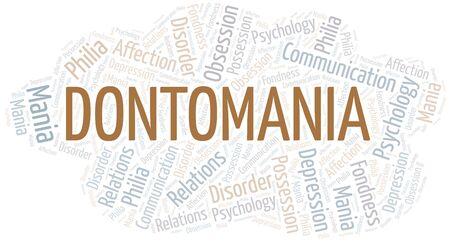 Dontomania word cloud. Type of mania, made with text only.