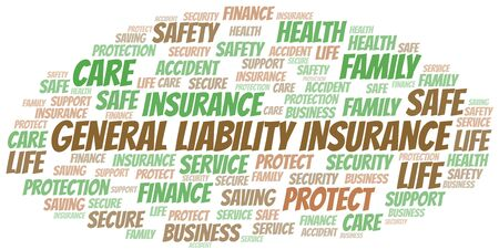 General Liability Insurance word cloud vector made with text only