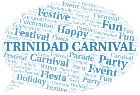 Trinidad Carnival word cloud vector made with text only  イラスト・ベクター素材