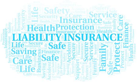 Liability Insurance word cloud vector made with text only