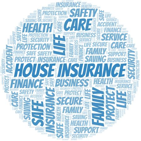 House Insurance word cloud vector made with text only