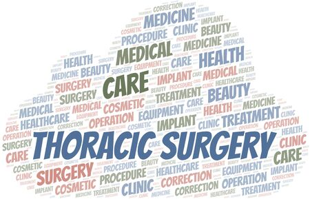 Thoracic Surgery word cloud vector made with text only