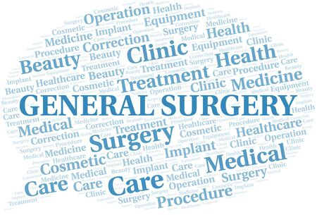 General Surgery word cloud vector made with text only