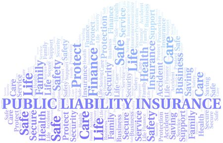 Public Liability Insurance word cloud vector made with text only