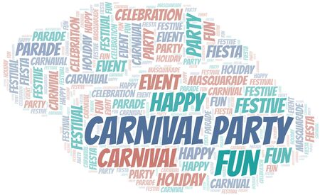 Carnival Party word cloud vector made with text only  イラスト・ベクター素材
