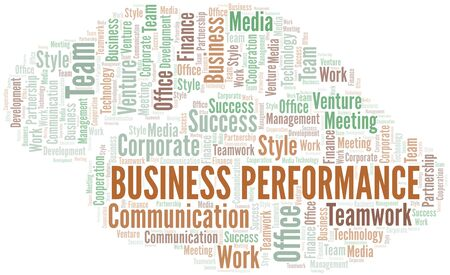 Business Performance word cloud. Collage made with text only. Ilustração