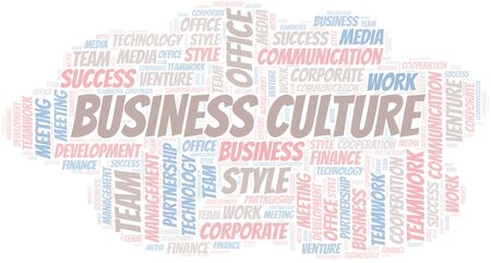 Business Culture word cloud. Collage made with text only.