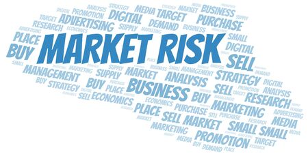 Market Risk word cloud. Vector made with text only