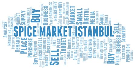Spice Market Istanbul word cloud. Vector made with text only