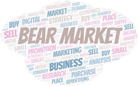 Bear Market word cloud. Vector made with text only Illustration