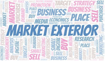 Market Exterior word cloud. Vector made with text only