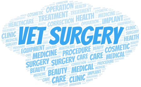 Vet Surgery word cloud vector made with text only