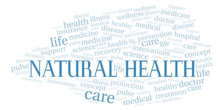 Natural Health word cloud. Wordcloud made with text only.