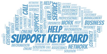 Support Keyboard word cloud vector made with text only
