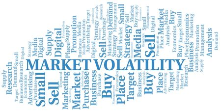 Market Volatility word cloud. Vector made with text only Ilustrace