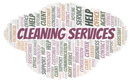 Cleaning Services word cloud. Wordcloud made with text only.