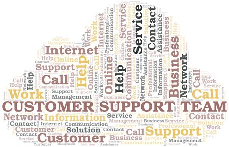 Customer Support Team word cloud vector made with text only