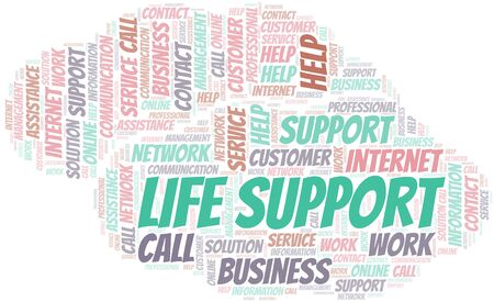 Life Support word cloud vector made with text only