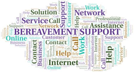 Bereavement Support word cloud vector made with text only Illustration