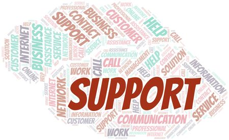 Support word cloud vector made with text only Ilustrace