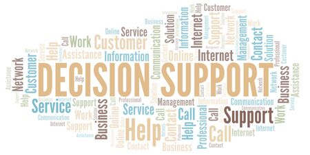 Decision Support word cloud vector made with text only