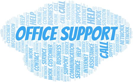 Office Support word cloud vector made with text only
