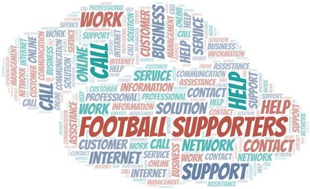 Football Supporters word cloud vector made with text only Ilustrace
