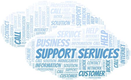 Support Services word cloud vector made with text only