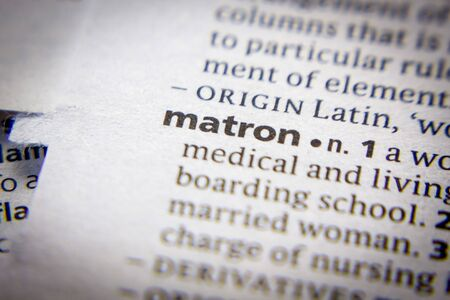 Word or phrase Matron in a dictionary Editöryel