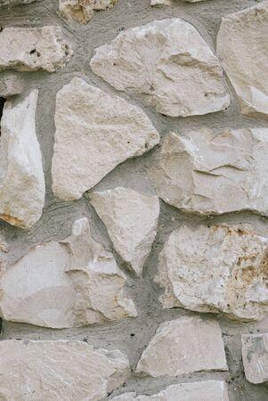 White and gray Stone masonry texture background.