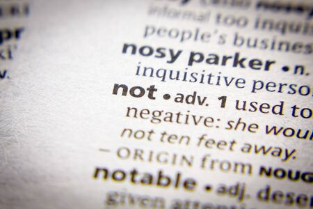 Word or phrase Not in a dictionary