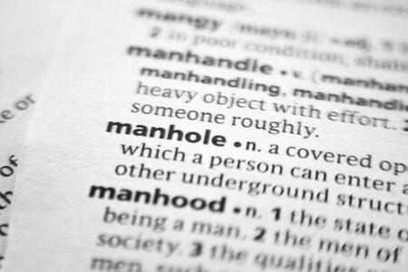 Word or phrase Manhole in a dictionary Editöryel