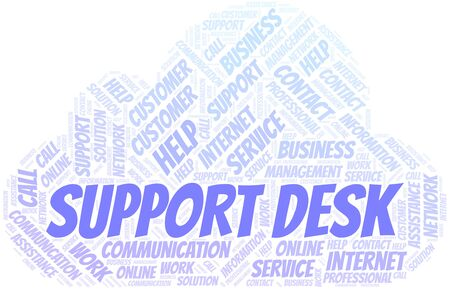 Support Desk word cloud vector made with text only 向量圖像