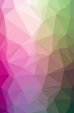 Illustration of abstract Green, Pink vertical low poly background. Beautiful polygon design pattern. Useful for your needs.