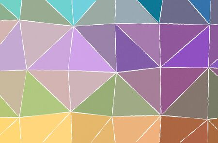 Abstract illustration of orange, purple, yellow White lines paint background.