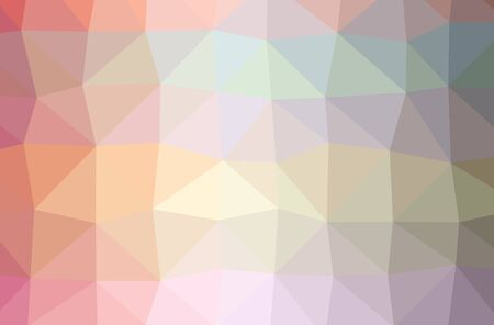 Illustration of abstract low poly red horizontal background