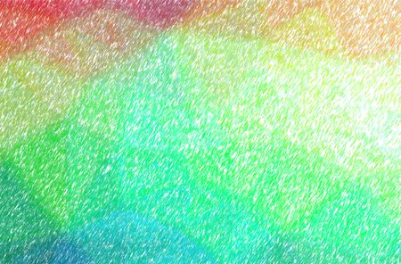 Abstract illustration of green, red, yellow Low Coverage Color Pencil background. 版權商用圖片