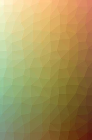 Illustration of abstract Orange, Yellow vertical low poly background. Beautiful polygon design pattern. Useful for your needs.