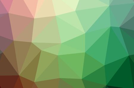Illustration of abstract Green, Yellow horizontal low poly background. Beautiful polygon design pattern. Useful for your needs.