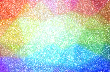 Abstract illustration of blue, orange, purple, yellow Low Coverage Color Pencil background. 版權商用圖片