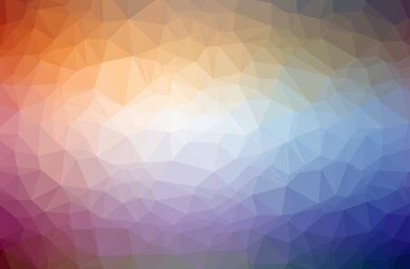 Illustration of abstract Blue, Orange horizontal low poly background. Beautiful polygon design pattern. Useful for your needs. Foto de archivo