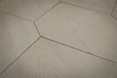 Ceramic tiles flooring - texture of natural ceramic floor decorating as wood. 版權商用圖片