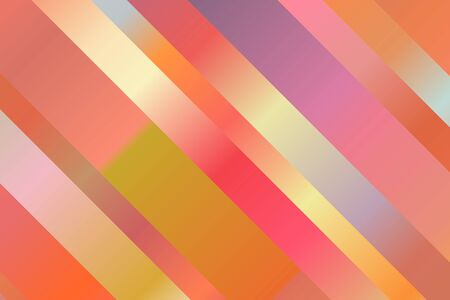 Pink, orange, red and blue lines vector background.