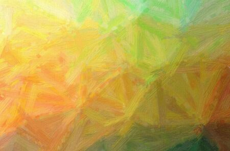 Abstract illustration of orange Bristle Brush Oil Paint background.