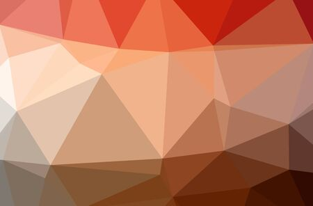 Illustration of abstract Orange, Pink, Red horizontal low poly background. Beautiful polygon design pattern. Useful for your needs. Foto de archivo