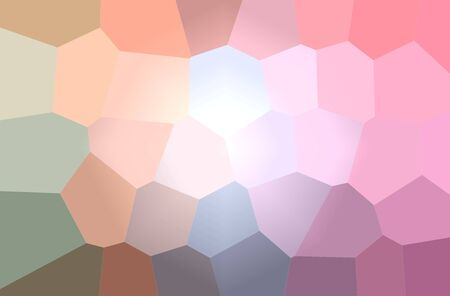 Abstract illustration of pink, yellow Giant Hexagon background.