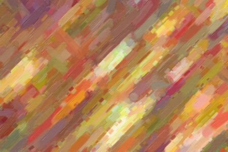 Pink, yellow and blue lines with big brush abstract paint background. Stock Photo