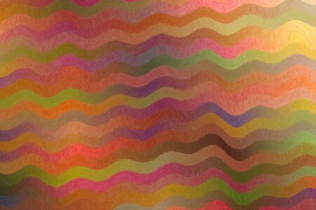 Pink, yellow and blue waves Impasto abstract paint background. Stock Photo